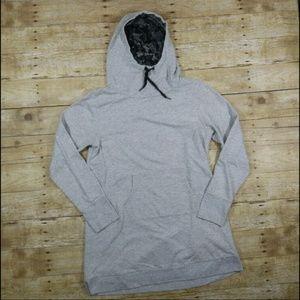 GAIAM Gray long sweatshirt Cowl Hoodie Yogas L